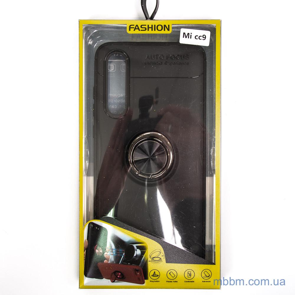 TPU Deen ColorRing с креплением под магнитный держатель Xiaomi Mi CC9 Black
