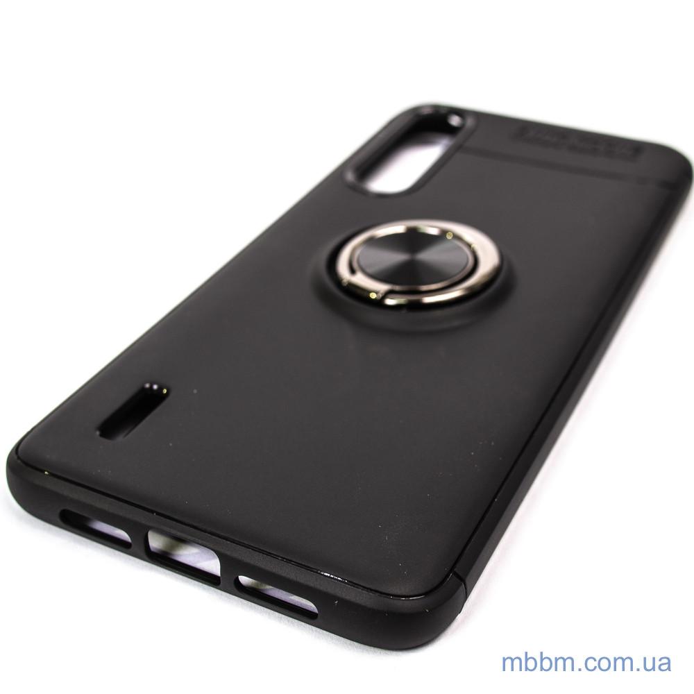 Чехлы для Xiaomi Mi 9 Lite / CC9 TPU Deen ColorRing с креплением под магнитный держатель Black