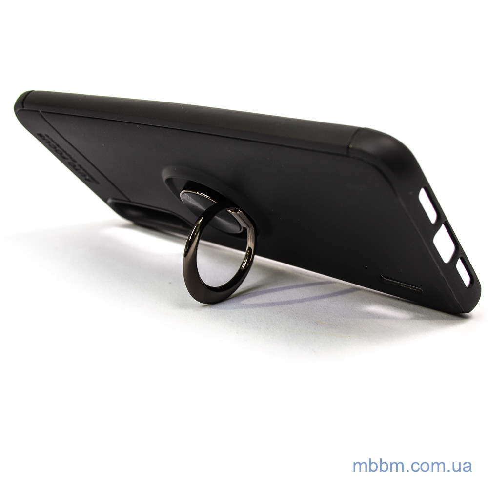 Чехол TPU Deen ColorRing с креплением под магнитный держатель Xiaomi Mi CC9 Black 9 Lite