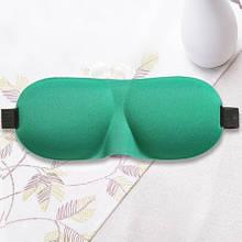 Зеленая маска для сна (размер универсальный) - 23*10см