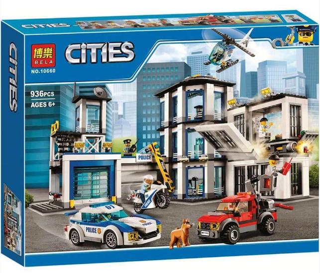"""Конструктор Bela 10660 """"Полицейский участок"""" (аналог Lego City 60141), 936 дет."""
