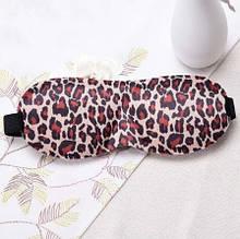 Леопардовая маска для сна (размер универсальный) - 23*10см