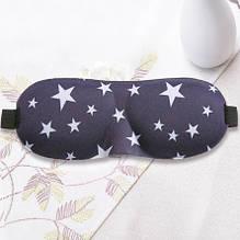 Очки для сна с принтом звезд - размер универсальный, на резинке