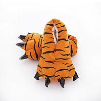 Тапки лапки когти детские плюшевые с задниками Тигр 27-33 размер