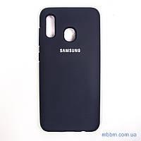 Чехол Original Soft Samsung A20/A30 Dark Blue