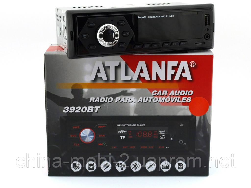 Atlanfa 1077BT car MP3 190W  4*45W  в стиле pioneer, FM автомагнитола с bluetooth
