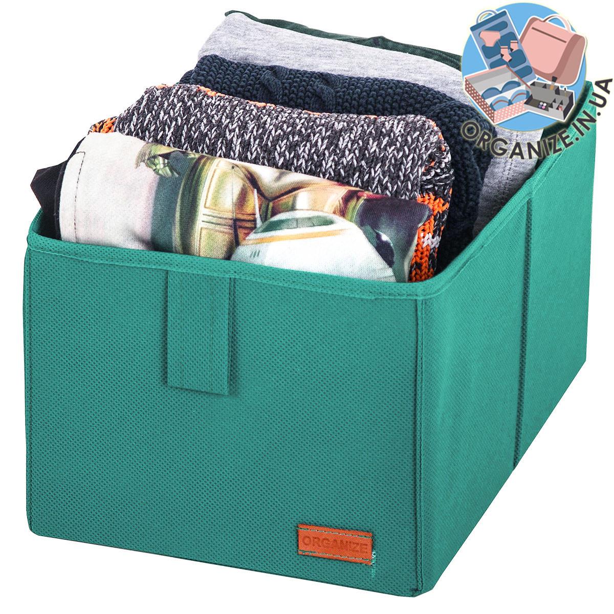 Органайзер в шкаф для хранения вещей M (лазурь)