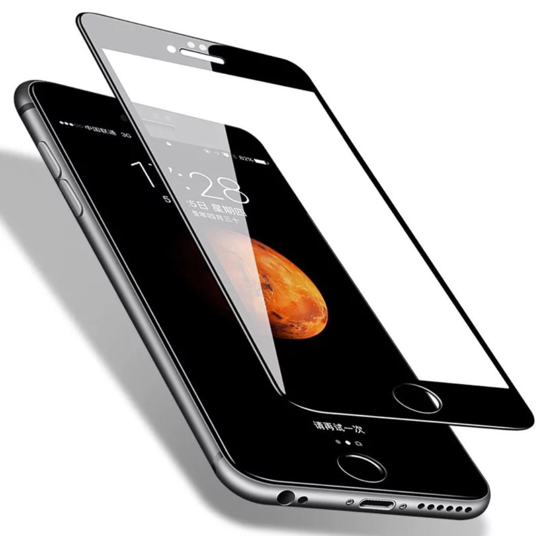 Закалене скло для Iphone 6s Повне покриття Black