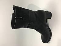 Полусапожки кожаные на меху каблук классика, фото 1