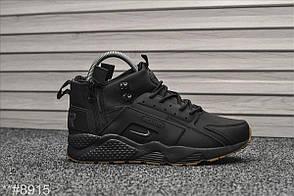 Зимние кроссовки Nike Air Huarache Black WNTR