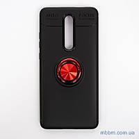 Чехол TPU Deen CrystalRing с креплением под магнитный держатель Xiaomi Mi 9T Black/Red