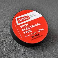 Изолента ПВХ APRO черная 0,14мм*17мм*20м