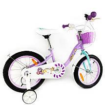 """Велосипед детский RoyalBaby Chipmunk MM Girls 14"""", OFFICIAL UA, фиолетовый, фото 3"""