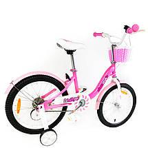 """Велосипед детский RoyalBaby Chipmunk MM Girls 18"""", OFFICIAL UA, розовый, фото 3"""
