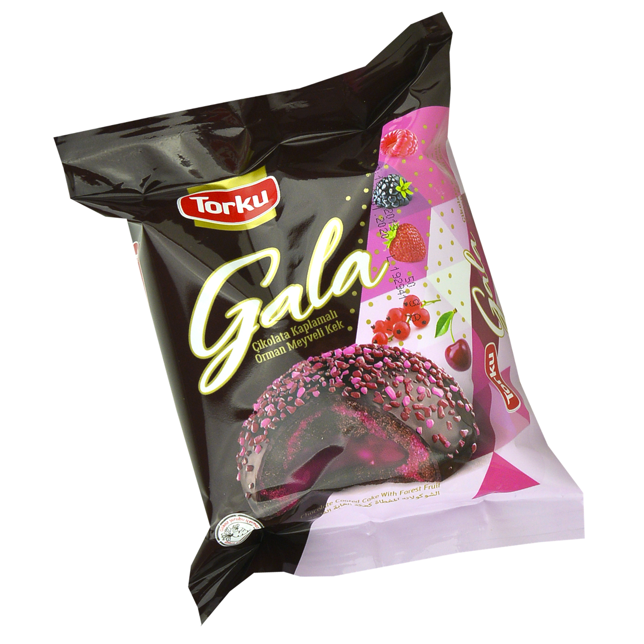 Кекс Gala с лесными ягодами в шок.глазури 50гр 1уп/24шт