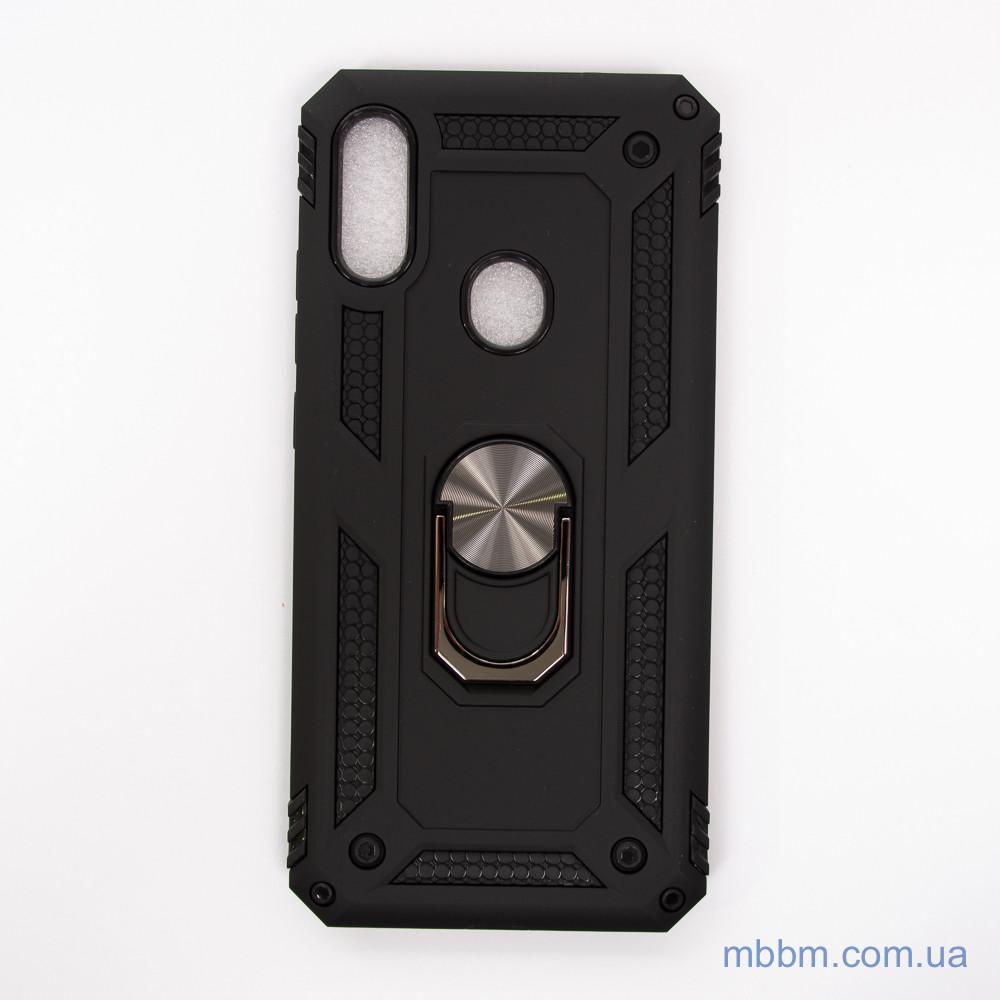 Ударопрочный чехол Serge Ring под магнитный держатель Xiaomi Redmi Note 7 Black