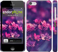 """Чехол на iPhone 5c Пурпурные цветы """"2719c-23"""""""