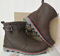 Levis! Мужские зимние кожаные Levi's Угги коричневые, фото 1