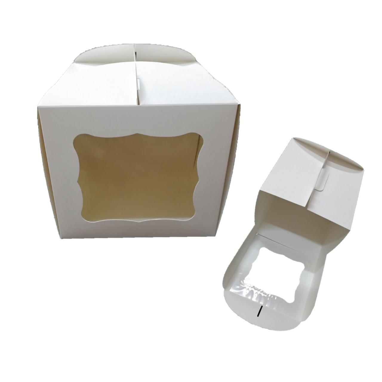 Тортовая упаковка с окошком 230*230*210