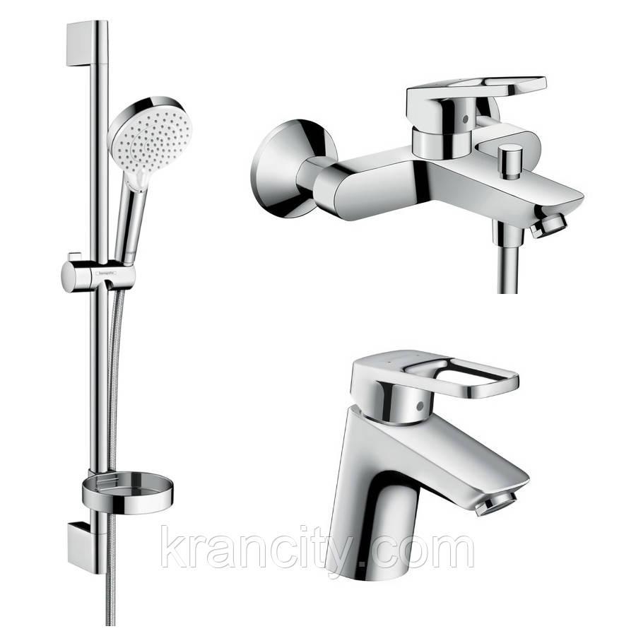 Набор смесителей однорычажных для ванны HANSGROHE Logis Loop 1042019