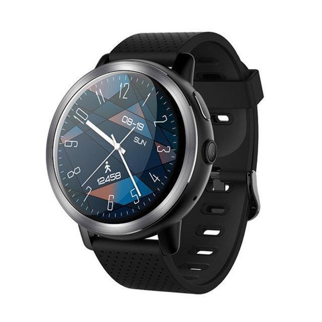 "Смарт годинник Lemfo LEM8 black, Екран 1,39"" , 1 SIM 2G/3G/4G, камера 2Mp, GPS, крокомір, пульсометр, Android 7.1"