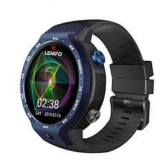 """Смарт часы Lemfo LEM9 black. Экран 1,39"""" , 1 SIM 2G/3G/4G, камера 5Mp, GPS, шагомер, пульсометр, Android 7.1"""