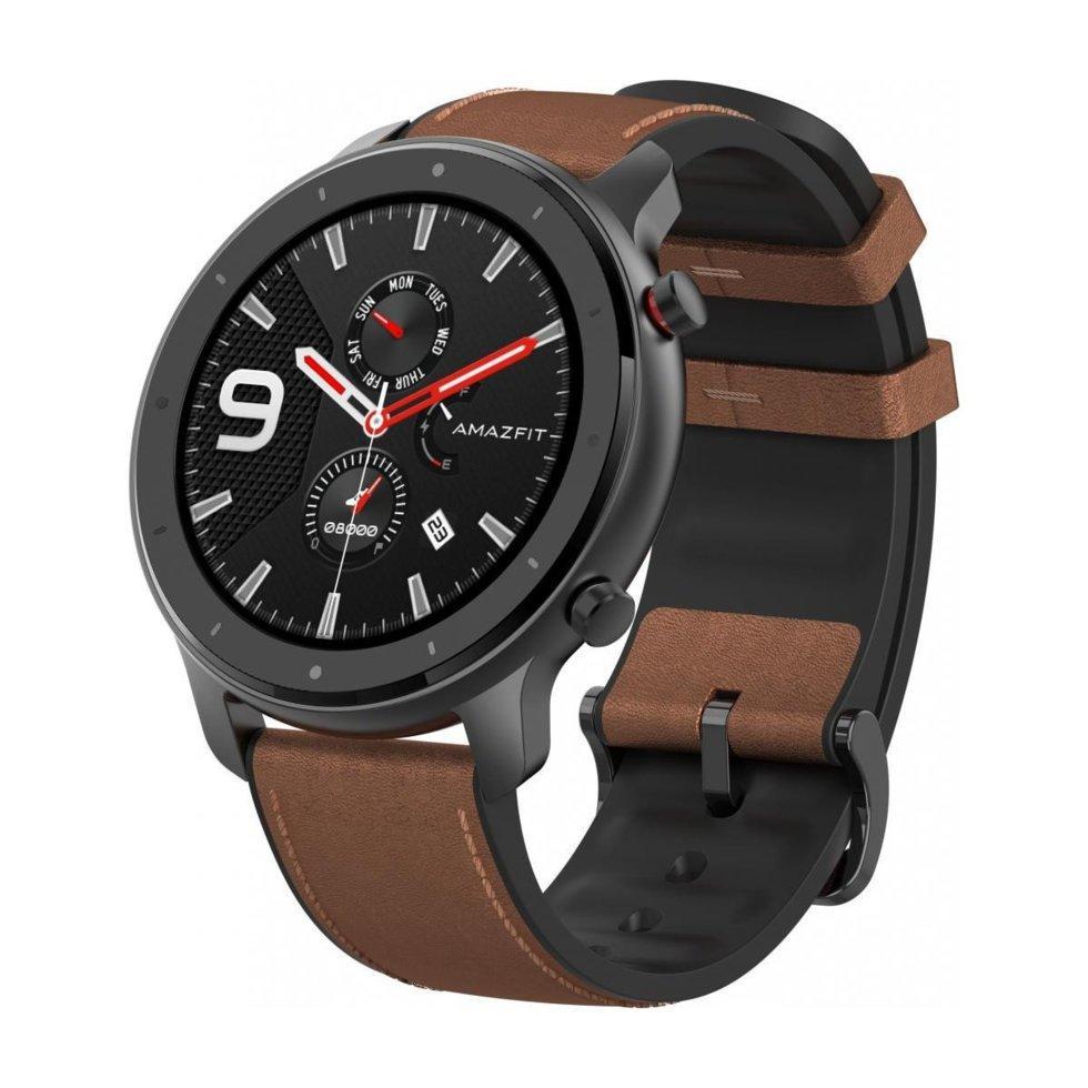 "Смарт годинник Xiaomi Amazfit GTR aluminium alloy (47mm) black Екран 1,39"" AMOLED, GPS,"