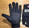 Зимние утепленные черные мото перчатки с защитой City, фото 5