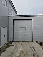 Секционные промышленные ворота с калиткой DoorHan ш3300мм, в3300мм, фото 2