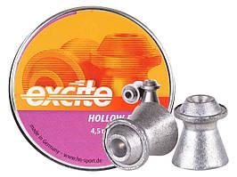 "Пули для пневматического оружия Haendler&Naterman ""H&N Excite Hollow Point""0,46g 500 шт/уп 0,46 гр 4,5 мм"