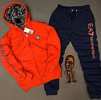 Мужской зимний спортивный костюм EA 7(Топ реплика)