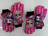 Болоневые перчатки для девочек оптом, Disney, 7-12 лет,  № 1922/9042