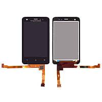 Дисплей для мобильного телефона Sony Ericsson ST17i, черный, с сенсорным экраном