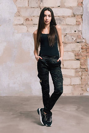 """Спортивные женские брюки """"Алекс"""" с накладными карманами, фото 2"""