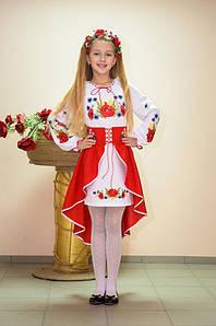Костюм вишитий Волинські візерунки для дівчинки Польові квіти 134 см