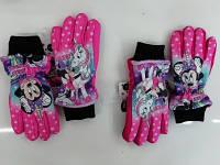 Болоневые перчатки для девочек оптом, Disney, 3-8 лет,  № MIN-A-GLOVES-117