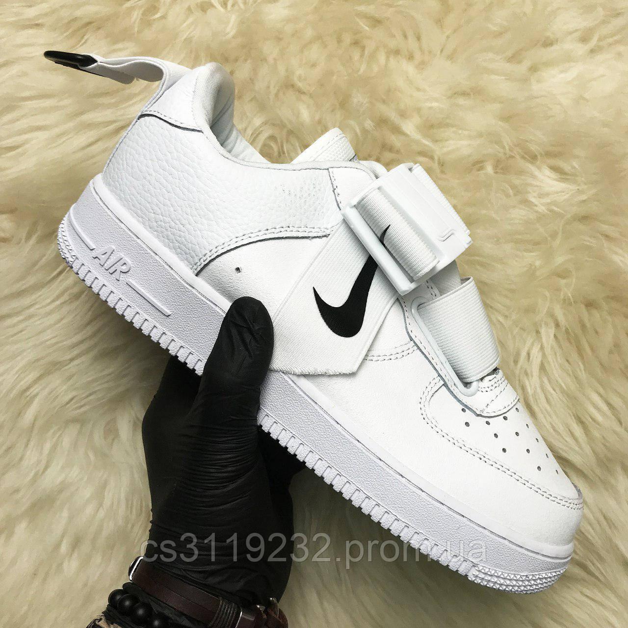 Мужские кроссовки Nike Air Force Utility (белые)