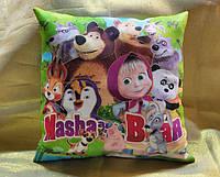 Декоративная детская подушка Маша и Медведь