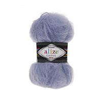 Пряжа Alize Mohair Classic New 40 голубой (мохеровая пряжа Ализе Мохер Классик, Алізе Мохер класік)