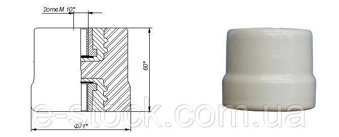 Изоляторы фарфоровые опорные армированные ИОР-1-2,5 У3, Изолятор ИОР-1-2,5 У3