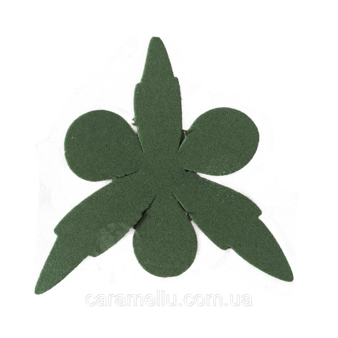 Чашелистик Пиона 8см 5шт, Темно-темно зеленый 182