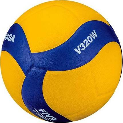 Мяч волейбольный Mikasa V320W Желто-синий (4907225881031), фото 2