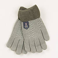 Перчатки для мальчиков на 5-7 лет - 19-7-54 Серый, фото 1