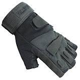 Перчатки тактические беспалые BlackHawk чёрные, XL, фото 2