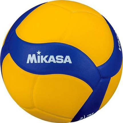 Мяч волейбольный Mikasa V330W Желто-синий (4907225881055), фото 2