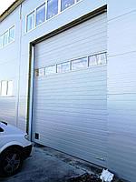 Секционные промышленные ворота с панорамной панелью DoorHan ш3200мм, в3200мм, фото 3
