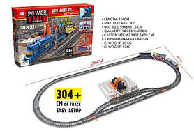 Игрушка железная дорога Power traine с автовозом на батарейках 1570701