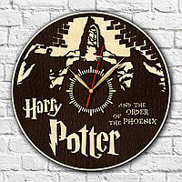 Harry Potter Часы с древесины Гарри Поттер Декор в комнату подростка Экологические часы на стену Круглые часы