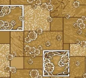 Ковролин для дома Лилия коричневый на войлочной основе цветной, фото 2