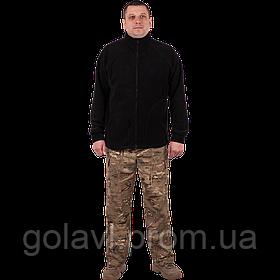 Куртка флисовая c накладками – цвет Черный